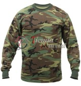 Camiseta camuflada Woodland ML