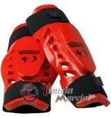 Canilleras Warrior rojas