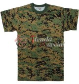 Camiseta camuflada Woodland Digital
